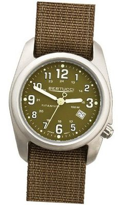 Bertucci DX3 Field Resin Quartz Green Dial Unisex - 12015