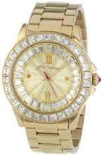 Betsey Johnson BJ00004-16 Analog Display Quartz Gold
