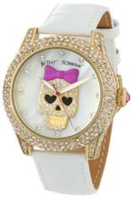 Betsey Johnson BJ00019-06 Analog Pink Skull Dial