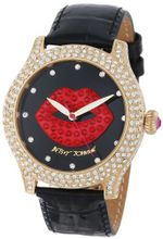 Betsey Johnson BJ00019-58 Analog 3D Lip Graphic Dial