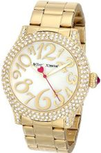 Betsey Johnson BJ00019-66 Analog Display Quartz Gold