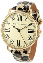 Betsey Johnson BJ00032-03 Analog Leopard Printed Patent Leather Strap