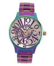 Betsey Johnson BJ00040-11 Analog Rainbow Stainless Steel Case and Bracelet