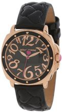 Betsey Johnson BJ00044-19 Analog Quilted Heart Strap