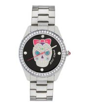 Betsey Johnson BJ00048-34 Ladies Black Silver Skull Design