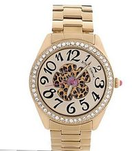 Betsey Johnson , BJ00048-52 Gold-Tone Leopard Flower Boyfriend