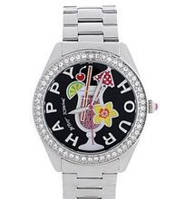 Betsey Johnson , BJ00048-53 Silver-Tone Happy Hour Boyfriend