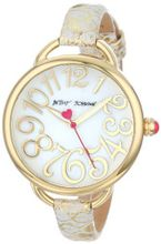Betsey Johnson BJ00067-26 Analog Metallic Leather Strap