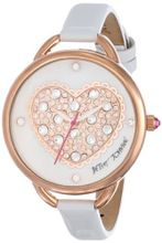 Betsey Johnson BJ00067-28 Rose Gold Puffy Heart Dial