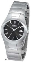 Bill Blass Aero Contour Ladies Stainless Steel Black Dial 40457