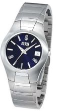 Bill Blass Aero Contour Ladies Stainless Steel Blue Dial 40458