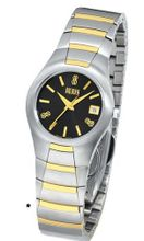 Bill Blass Aero Contour Ladies Two-Tone Black Dial 40452