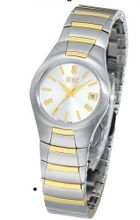 Bill Blass Aero Contour Ladies Two-Tone Silver Dial 40451