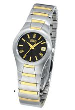 Bill Blass Aero Contour Two-tone Stainless Steel Black Dial 40442