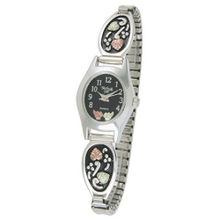 Black Hills Gold Analog Black Dial Ladies Antiqued Silver 9-WB126-AN-GS