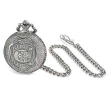 Bling Jewelry Antique Style Large Police Shield Badge Message Pocket