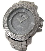 Bling MRSTER Iced out 3D Bezel Hiphop Bling Silver Plated Metal strap