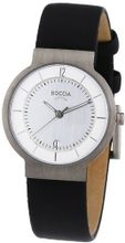 Boccia B3123-09 Ladies Titanium Black Leather Strap