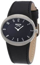 Boccia B3165-06 Ladies Titanium Black Leather Strap