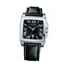 Boss Black With Leather Strap