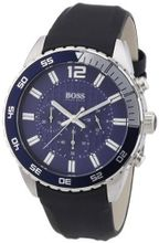 Hugo Boss Blue Dial Black Rubber 1512803