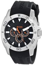 BOSS 1512950 Orange Stainless Steel and Silicone Casual