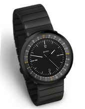 MONDO BLACK EDITION, Dual Timer by Botta Design (Steel Strap) - 269011BE