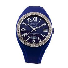 Boxer Milano Unisex Quartz with Blue Dial Analogue Display and Blue Rubber Strap BOX 40 Z BL