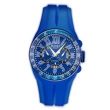 Boxer Milano Unisex Quartz with Blue Dial Chronograph Display and Blue Rubber Strap BOX 48 CR BL