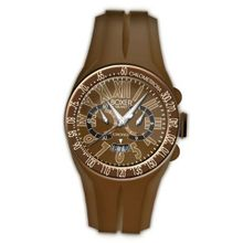 Boxer Milano Unisex Quartz with Brown Dial Chronograph Display and Brown Rubber Strap BOX 48 CR BG