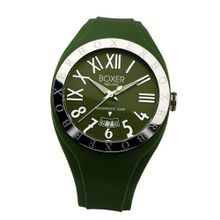 Boxer Milano Unisex Quartz with Green Dial Analogue Display and Green Rubber Strap BOX 40 GR