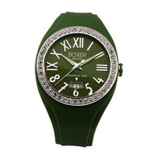 Boxer Milano Unisex Quartz with Green Dial Analogue Display and Green Rubber Strap BOX 40 Z GR