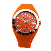 Boxer Milano Unisex Quartz with Orange Dial Analogue Display and Orange Rubber Strap BOX 40 OR