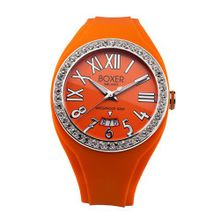 Boxer Milano Unisex Quartz with Orange Dial Analogue Display and Orange Rubber Strap BOX 40 Z OR