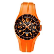 Boxer Milano Unisex Quartz with Orange Dial Chronograph Display and Orange Rubber Strap BOX 48 CR OR