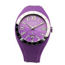 Boxer Milano Unisex Quartz with Purple Dial Analogue Display and Purple Rubber Strap BOX 40 VL