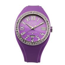 Boxer Milano Unisex Quartz with Purple Dial Analogue Display and Purple Rubber Strap BOX 40 Z VL