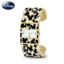 """Discover The Magic"" Mickey Mouse Cuff by The Bradford Exchange"