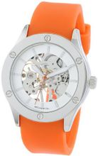 "Breda 1450_Orange ""Addison"" Mechanical See-Through Rubber Strap"