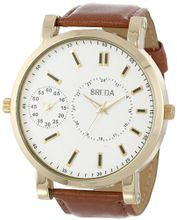 Breda 1637-gold/brown Aaron Oversized Dual Time Zone