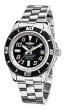 Breitling A1736402/BA29SS Superocean Abyss Black Dial and Stainless Steel Bracelet