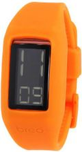 Breo Block Unisex Digital with LCD Dial Digital Display and Orange Plastic Strap B-TI-BLK1