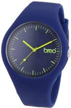 Breo Classic Unisex Quartz with Blue Dial Analogue Display and Blue Rubber Strap B-TI-CLC475
