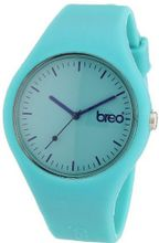 Breo Classic Unisex Quartz with Green Dial Analogue Display and Green Rubber Strap B-TI-CLC48