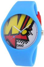 Breo Classic Unisex Quartz with Multicolour Dial Analogue Display and Blue Rubber Strap B-TI-CLCP4