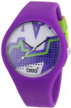 Breo Classic Unisex Quartz with Multicolour Dial Analogue Display and Purple Rubber Strap B-TI-CLCZ2