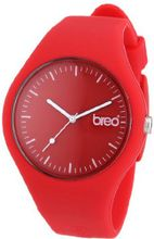 Breo Classic Unisex Quartz with Red Dial Analogue Display and Red Rubber Strap B-TI-CLC10