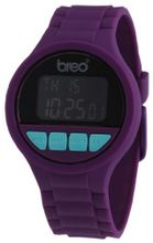Breo Code Unisex Digital with Black Dial Digital Display and Purple Plastic or PU Strap B-TI-CDE2