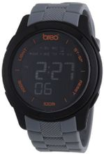 Breo Orb Ten Unisex Digital with Black Dial Digital Display and Grey Plastic or PU Strap B-TI-ORX97