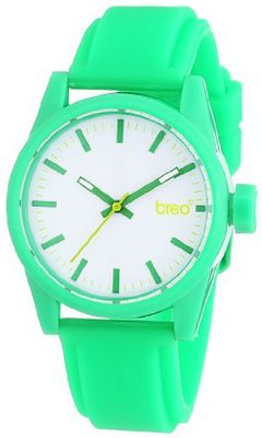 Breo Polygon Unisex Quartz with Grey Dial Analogue Display and Green Rubber Strap B-TI-PLY5